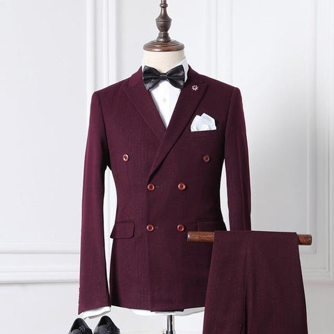 The Kensington Double-Breasted Suit by Scotch and Rich