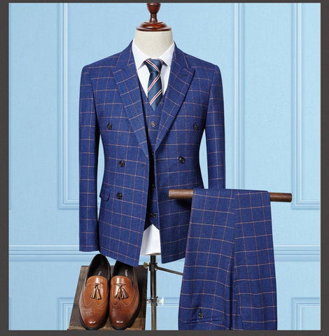 The Mayfair Double-Breasted Suit by Scotch and Rich