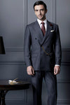 Signature Series Grey Stripe 2-Piece Double-Breasted Suit