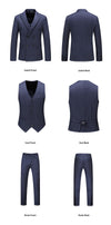 The Kingsman Double-Breasted Suit - Blue