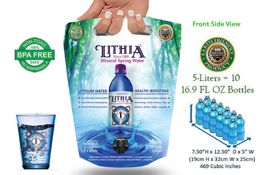 Earth's Healthiest Alkaline Water Natural Trace Minerals and Elements Lithium bicarbonate