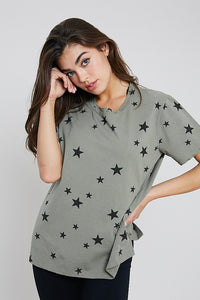 Summer Stars Distressed Top