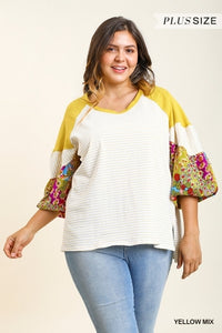 Shiloh Curvy Yellow Floral Top