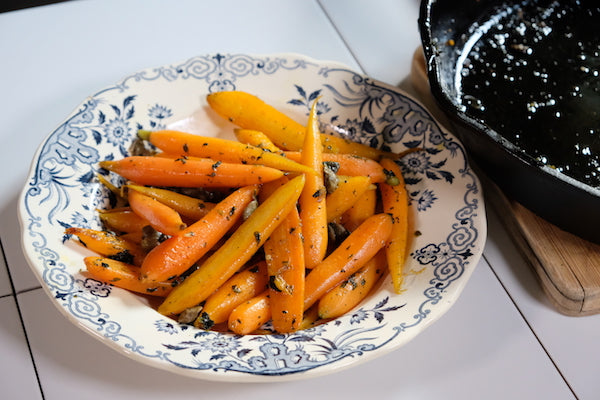 Braised Carrots with Capers and Parsley