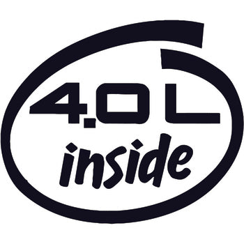 4.0L Inside Decal