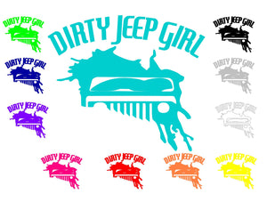Dirty Jeep Girl Logo Decals