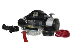 12,000 lb. 12 Volt Electric Winch with Synthetic Rope