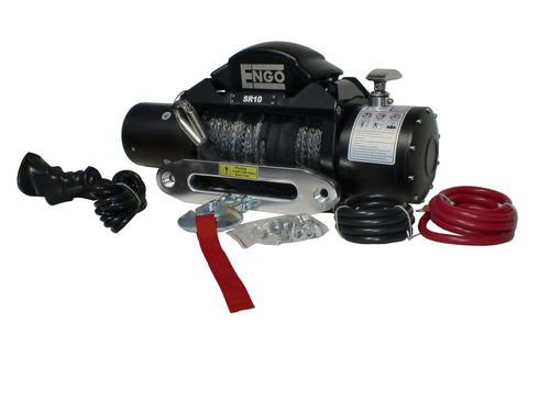 SR MODEL 10,000 lb. 12 Volt Electric Winch with Synthetic Rope