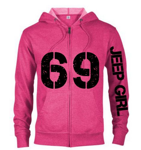 Jeep Girl 69 Hoodie in Multi colors