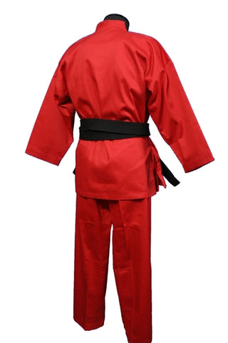Medium Weight Color Karate Uniform, Red