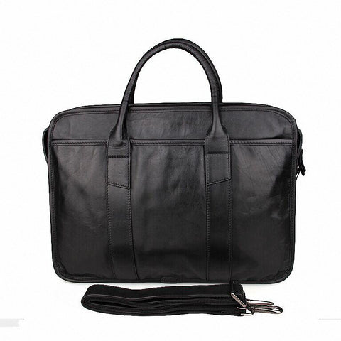 15inch Leather Laptop Bag Genuine Leather Men Business Briefcases