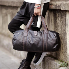 Portable Men Leather Duffle Bag