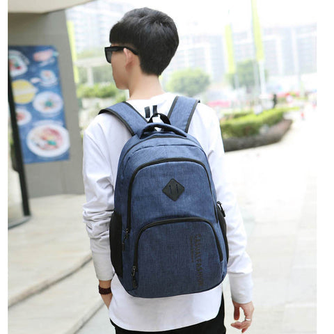 Canvas Laptop School Backpack
