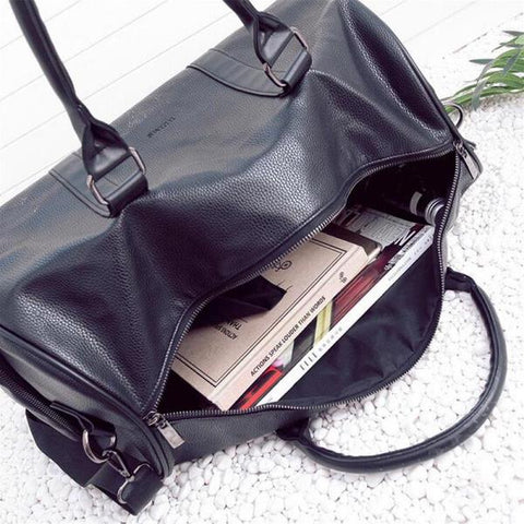 PU Leather Traveling Duffle Travel Bag