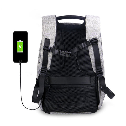 USB Charge Anti Theft Backpack Travel Security Waterproof