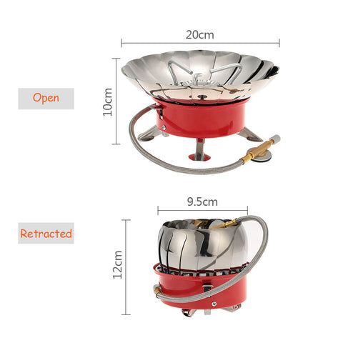 Portable Windproof Backpacking Gas Stove