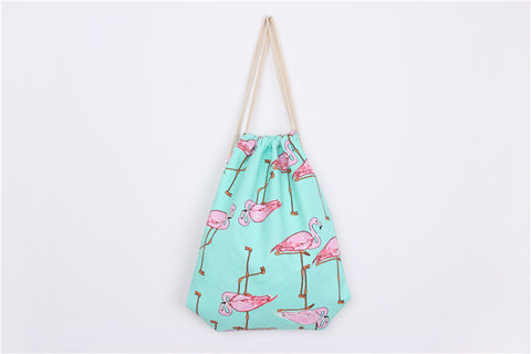 3D Flamingo Printing Travel Tote