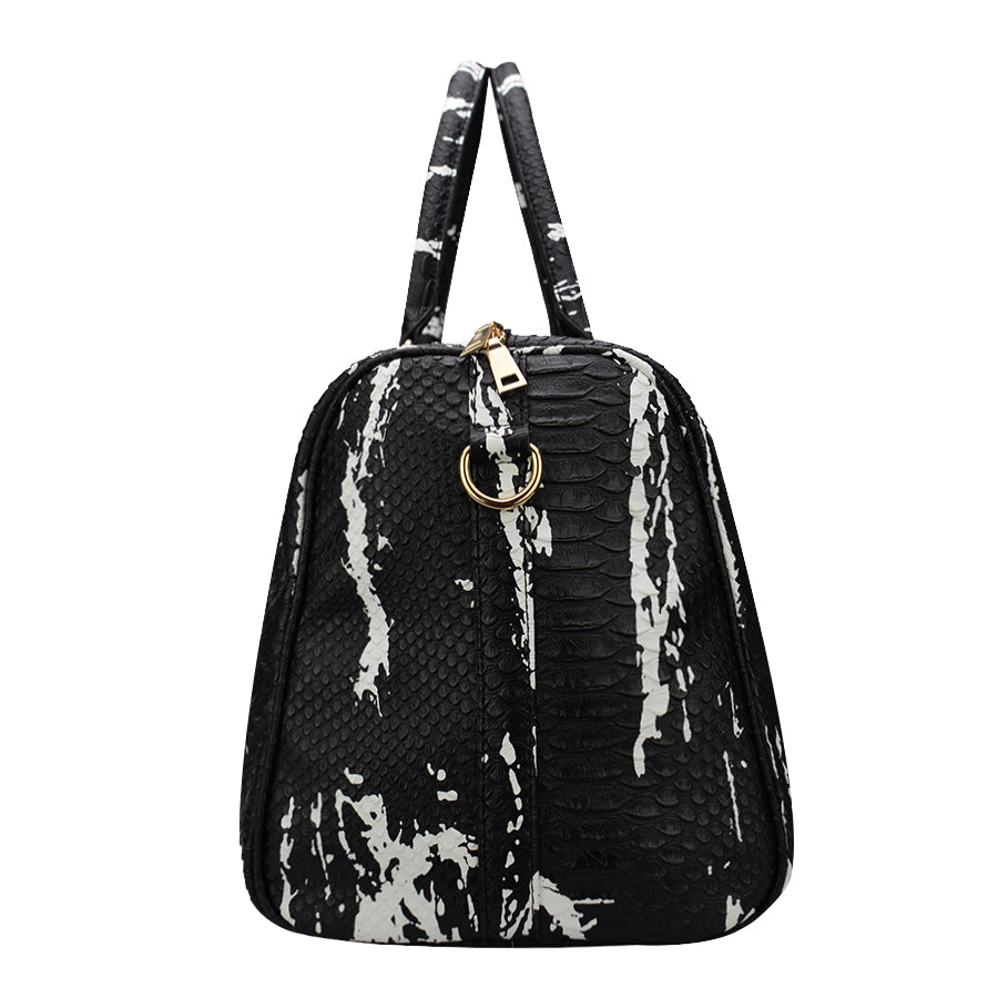4459b2f09339 Leather Crocodile Pattern Duffle Bag – One Stop Passion