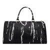 Image of Leather Crocodile Pattern Duffle Bag