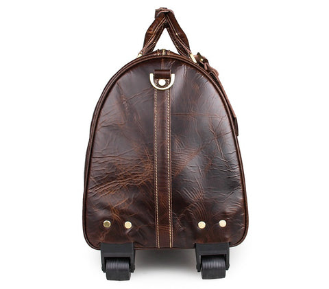 Genuine Cow Leather Unique Travel Tote
