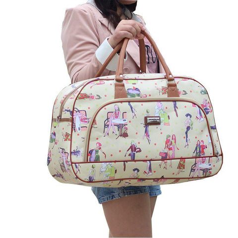 Women's Waterproof Duffel Bag Cartoon Print