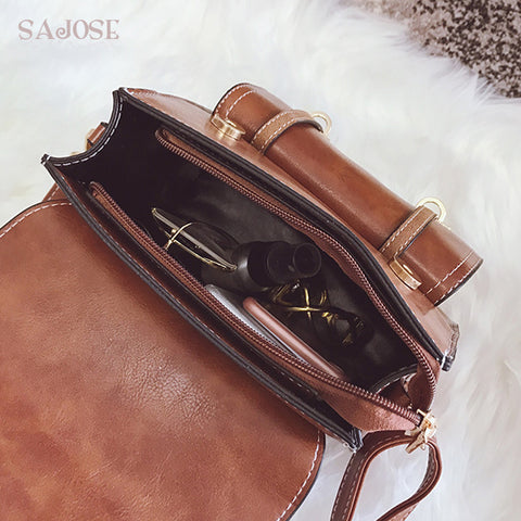 Leather Retro Backpack Multifunction Bag