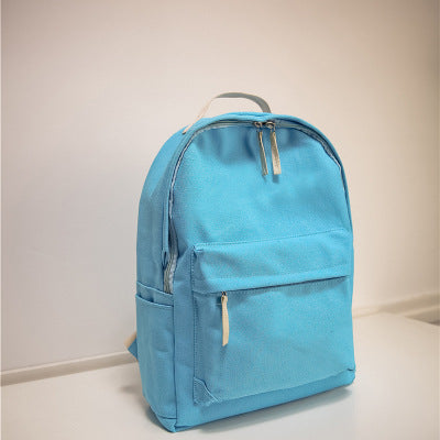 Japanese Canvas Solid School Backpack