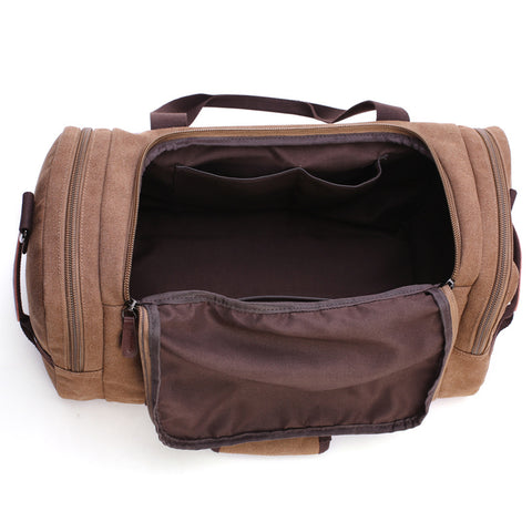 Multifunctional Duffle Bags Vintage Leather Canvas