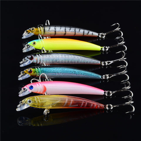 Mixed 6/Set Minnow Fishing Lures