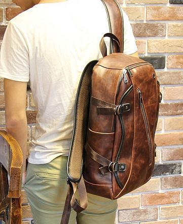 Retro Backpacks Crazy Horse Leather