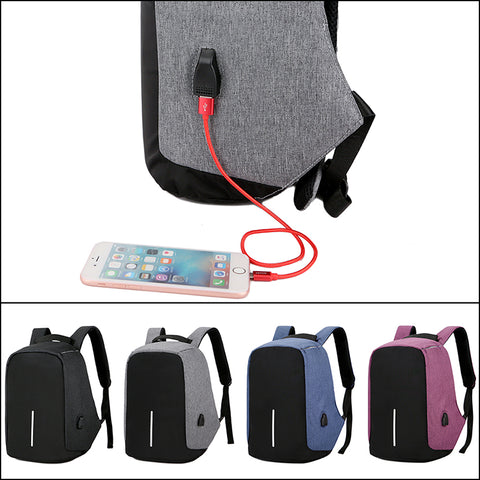 USB Charge Anti Theft Backpack Waterproof School Bags