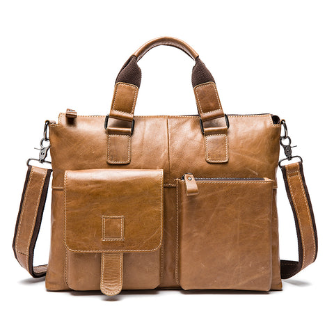 SEVEN SKIN Brand Men Genuine Leather Bag Business Men Bags Briefcase Luxury