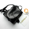 Image of Genuine Leather Anti Theft Backpack Zipper
