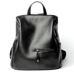 Genuine Leather Anti Theft Backpack Zipper