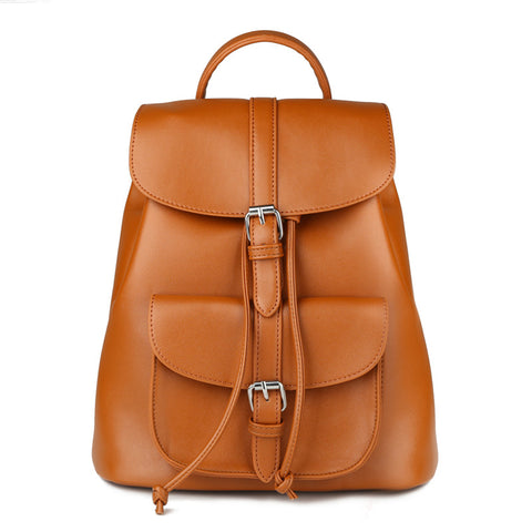 Women Retro Backpack Vintage Leather