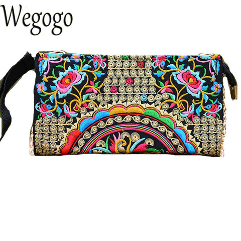 Women Day Clutch Chinese Ethnic National Embroidery Bags Vintage Messenger Bag