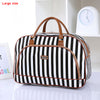 Image of Leather Waterproof Stripe Print Duffle Bag