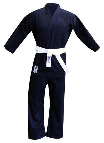 Karate Uniform in Black Cotton & Polyester Blend (00 (4 to 6))