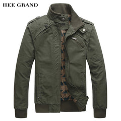 HEE GRAND 2017 Jacket Cotton Stand Collar Coat 4 Colors MWJ166