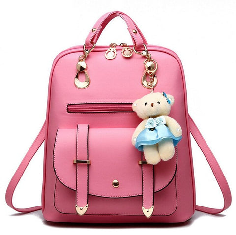 Women Backpack PU Leather Backpacks