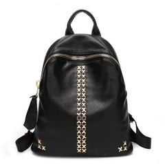 Fashion PU Leather Backpack Rivet Preppy Style
