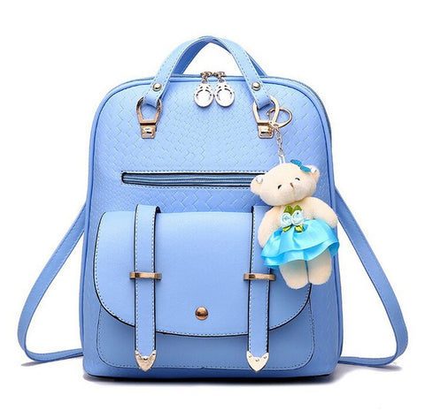 Casual Girls Backpack PU Leather