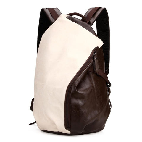 Dumpling Shape Leather Backpack