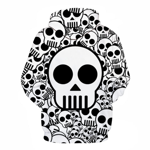 One Piece Anime Skull 3D Hoodie
