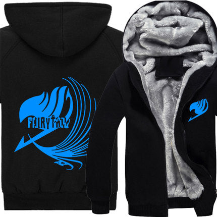 2015 New Fashion Fairy Tail Sweatershirt Natsu Cosplay Costumes Autumn Winter Thicken Hooded Hoodies Cartoon Jacket Coat