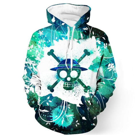 One Piece Skull 3D Anime Hoodie