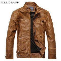 HEE GRAND Zipper Casual Stand Collar Jacket
