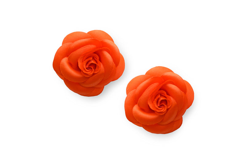 Black paired with 2 sets of Camellia (Tangerine & White)
