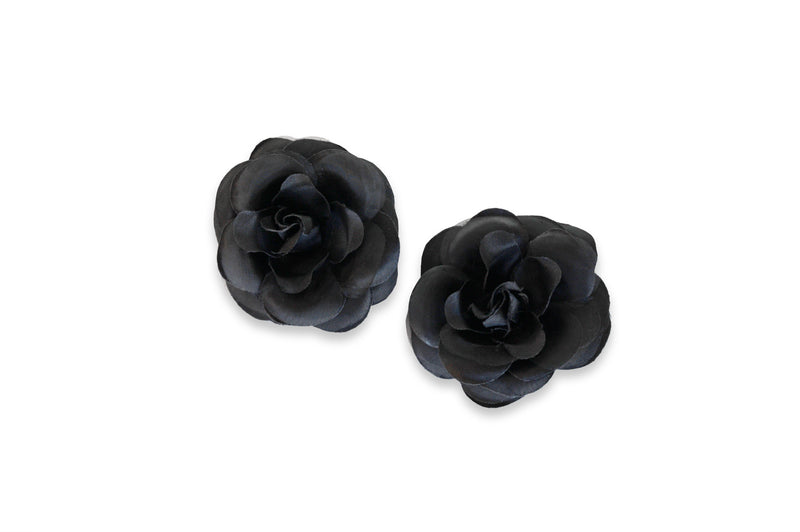 Black paired with 2 sets of Camellia (Black & White)