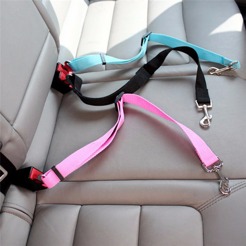 1pc Nylon Pets Seat belt Dog lead, Vehicle Seatbelt, Travel Adjustable Pet Safety Seat Belt